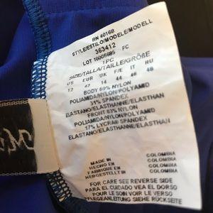 Miraclesuit Swim - Royal blue zipper Miraclesuit